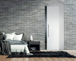 Casali White glass door sliding porta vetro laccata lacquer