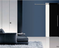 Casali glass door sliding porta vetro laccata lacquer bi-color black
