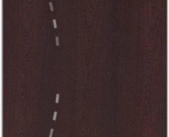 segmento, legno zebrano inserti inox